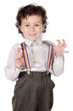Boy with suspenders Royalty Free Stock Photo