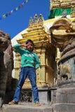 The boy in swayambhunath,kathmandu,nepal Stock Photography