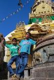 The boy in swayambhunath,kathmandu,nepal Royalty Free Stock Photo