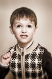 Boy with sweater stock photos