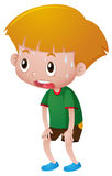 Boy with sweats on his face Stock Images