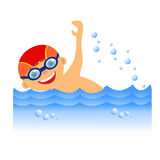 Boy swimmer Stock Photo