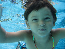 Boy swimming Royalty Free Stock Image