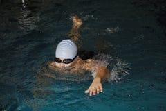 Boy swimming crawl stroke Royalty Free Stock Photo