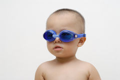 Boy with swimming goggles Stock Photography