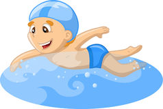 Boy is swimming,vector Stock Photos