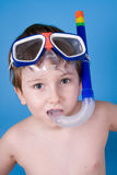 Boy in swimming mask Stock Photography