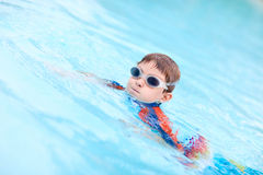Boy at swimming pool Royalty Free Stock Photo