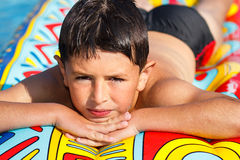 Boy in swimming pool Royalty Free Stock Photos