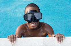 Boy in the swimming pool Royalty Free Stock Image