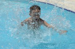 Boy in the swimming-pool Stock Photography