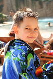 Boy on swimming-pool Stock Images