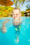Boy in swimming pool Stock Photography