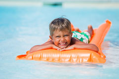 Boy at swimming pool Royalty Free Stock Photography