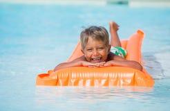 Boy at swimming pool Royalty Free Stock Photo