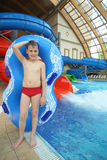 Boy with swimming toy Stock Photo