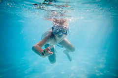 Free Boy Swimming Under Water Royalty Free Stock Photography - 28495757