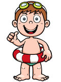Boy swimming. Vector illustration of Boy swimming Stock Images