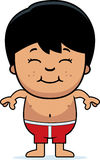 Boy in Swimsuit Stock Photo