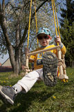 Boy on a swing Royalty Free Stock Images