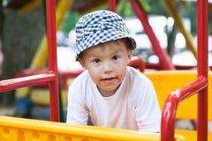 Boy on swing Royalty Free Stock Image
