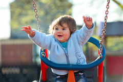 Boy on the swing Stock Photography