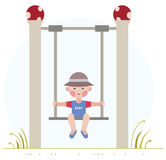 Boy on the swing Royalty Free Stock Photo