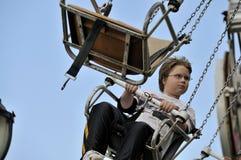 Boy on Swing Ride Royalty Free Stock Photos