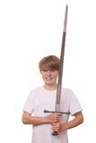 Boy with sword Stock Photos