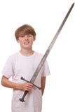 Boy with sword Stock Images