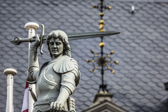 Boy with the sword and dragon; an architectural detail of the Ho Stock Image