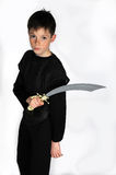 Boy with sword Stock Image
