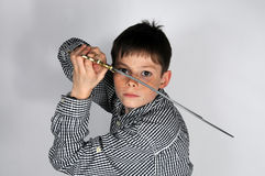 Boy with sword Royalty Free Stock Photos