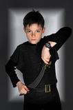 Boy with sword Royalty Free Stock Photo