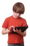 Boy with tablet Royalty Free Stock Photo