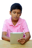 Boy with Tablet Computer. Stock Image