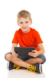 Boy tablet computer Royalty Free Stock Photography