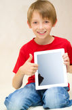 Boy with tablet computer Royalty Free Stock Photo