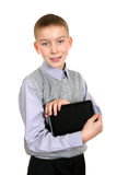 Boy with Tablet Computer Royalty Free Stock Images