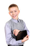 Boy with Tablet Computer Stock Images