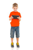 Boy tablet computer Stock Images