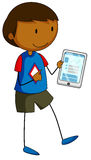 Boy and tablet Royalty Free Stock Image