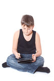 Boy with a Tablet PC Stock Photo
