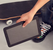 Boy with tablet PC Stock Photography