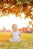 Boy take rest. Baby boy take rest in summer park Stock Photography