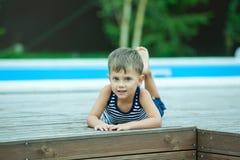 Boy take rest Royalty Free Stock Image