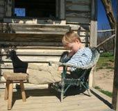 Boy Taking Afternoon Nap Royalty Free Stock Photo