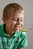 Boy Taking Medicine Royalty Free Stock Photos