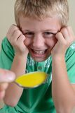 Boy Taking Medicine Stock Images