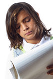 Boy Taking Notes Stock Photography